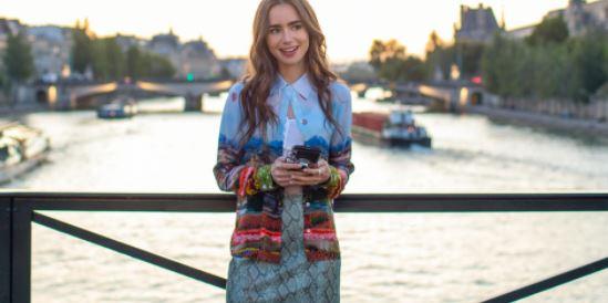 Emily on a bridge in paris